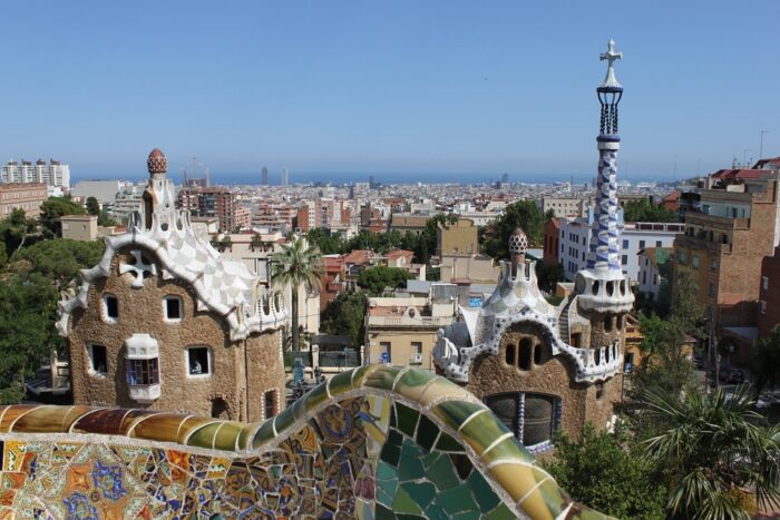 The Parc Guell, Barcelona